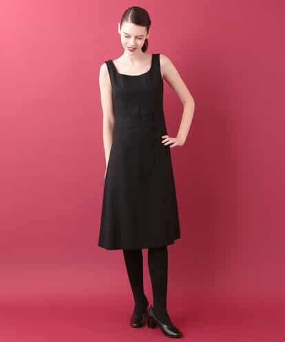 Sybilla(シビラ) デザイン切り替えドレス ブラック 40