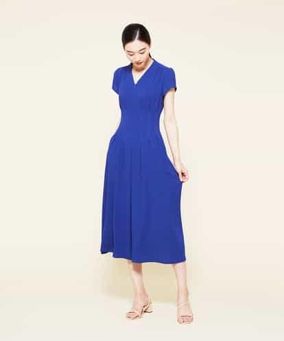 Sybilla(シビラ) タッキングデザインドレス ブルー 44