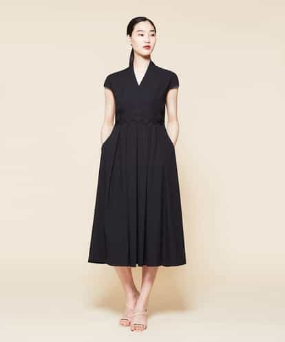 Sybilla(シビラ) ノーベルバックサテンデザインドレス ブラック 44