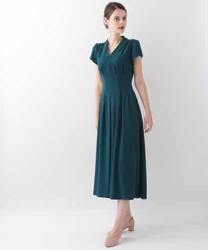 Sybilla(シビラ) ロング丈タックドレス ネイビー 44