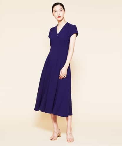 Sybilla(シビラ) タッキングデザインドレス ブルー 36