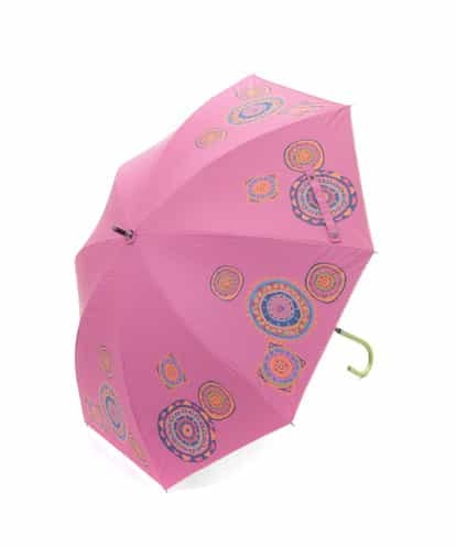 Jocomomola(ホコモモラ) 【晴雨兼用】RUEDA デザインプリント傘 ライトピンク 40