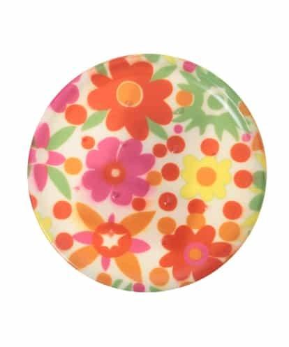 Jocomomola(ホコモモラ) 【食洗機対応】フラワープリントコースター ピンク 40