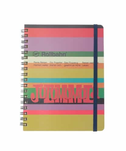 Jocomomola(ホコモモラ) Jocomomola限定 Rollbahn(ロルバーン) ポケット付メモ レッド 40