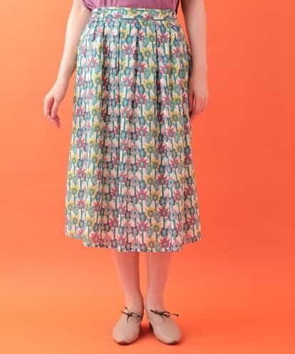 Jocomomola(ホコモモラ) びっくりフラワープリントスカート アイボリー 40