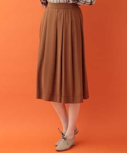 Jocomomola(ホコモモラ) レーヨンタックデザインスカート キャメル 40