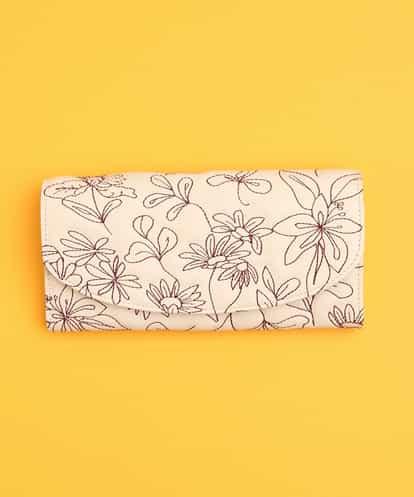 Sybilla(シビラ) 長財布 花刺繍 アイボリー フリーサイズ