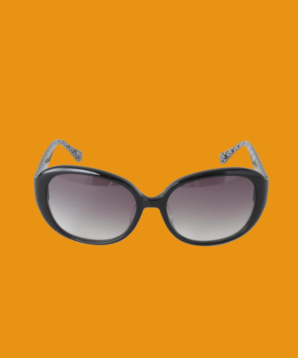 Sybilla(シビラ) オーバルシェイプサングラス ブラック フリーサイズ