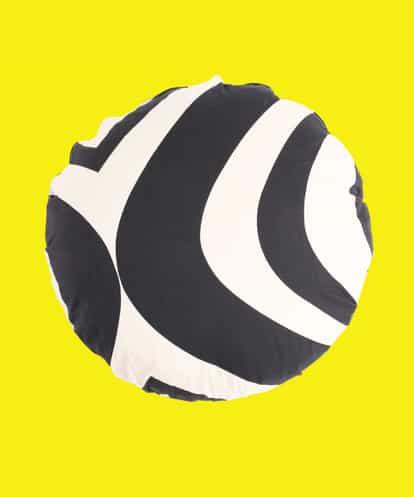 Sybilla(シビラ) モノトーンプリント クッションカバー 35センチ ブラック フリーサイズ