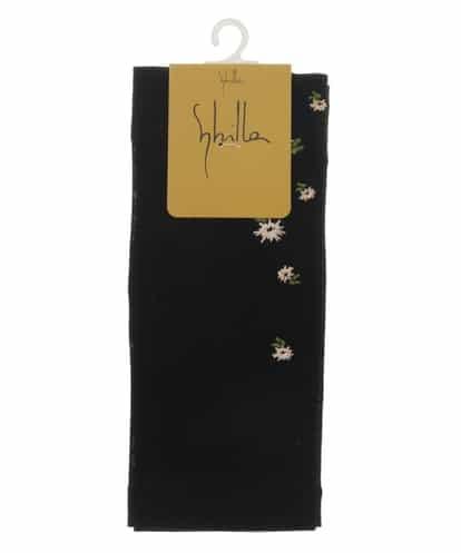Sybilla(シビラ) お花刺繍ショート丈UVカットグローブ ブラック フリーサイズ