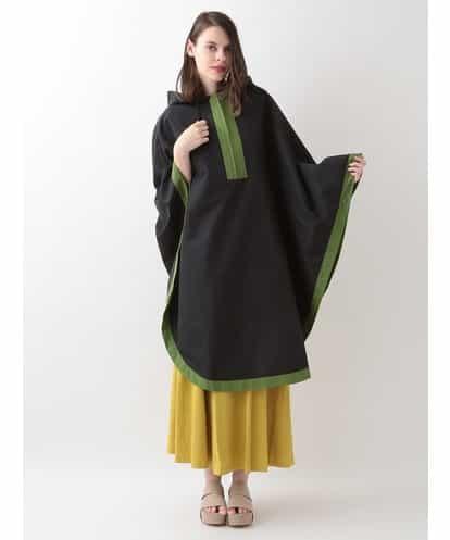 Sybilla(シビラ) カラーブロッキングレインポンチョ ブラック フリーサイズ