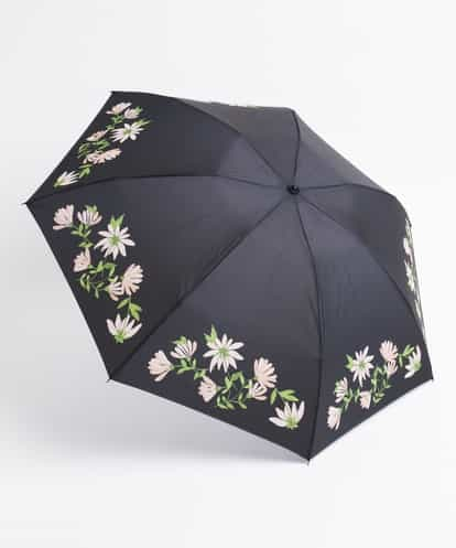 Sybilla(シビラ) ファンフラワー 折りたたみ傘 ブラック フリーサイズ