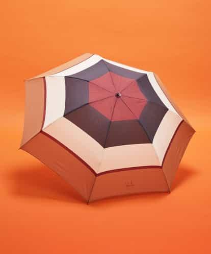 Sybilla(シビラ) ボーダープリント 折りたたみ傘 ブラウン フリーサイズ