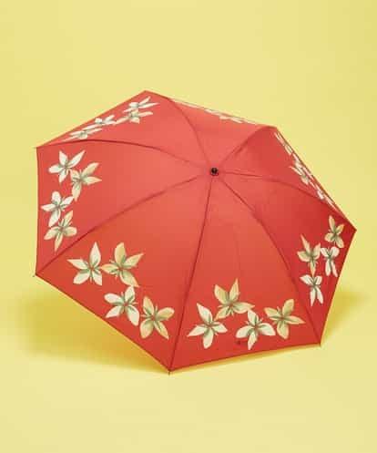 Sybilla(シビラ) フラワープリント 折りたたみ傘 レッド フリーサイズ