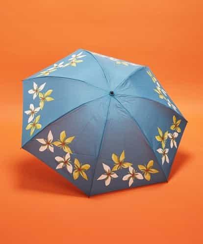 Sybilla(シビラ) フラワープリント 折りたたみ傘 ブルー フリーサイズ