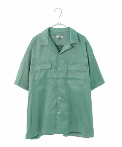 a.v.v(アー・ヴェ・ヴェ) ライトスウェードオープンカラシャツ[WEB限定サイズ] グリーン 48