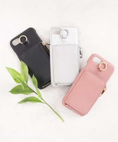 a.v.v(アー・ヴェ・ヴェ) 【iPhone6,6s,7,8対応】コインケース付きiPhoneケース シルバー 38