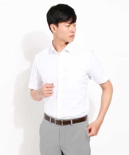 a.v.v(アー・ヴェ・ヴェ) BEZ綿麻ワイドカラーシャツシャツ ホワイト 48