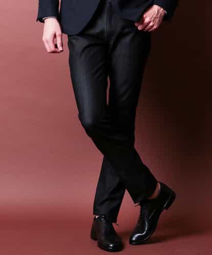 MICHEL KLEIN HOMME(ミッシェルクラン オム) パンツ(プレビアストレッチ5ポケット) ブラック 42