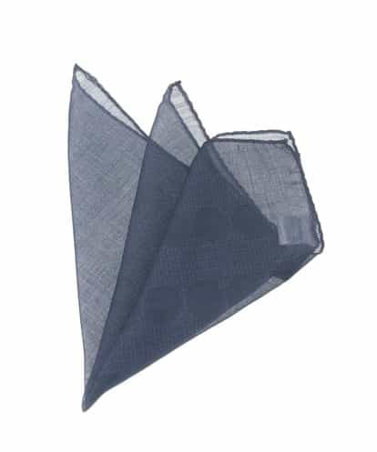 MICHEL KLEIN HOMME(ミッシェルクラン オム) デザインドットプリントポケットチーフ ネイビー 46