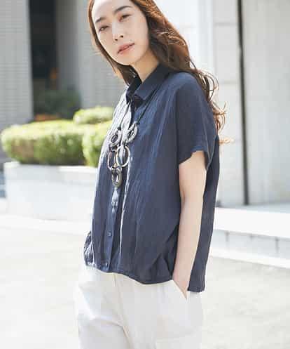 GIANNI LO GIUDICE(ジャンニ・ロ・ジュディチェ) シャーリングデザインシャツ ネイビー 40