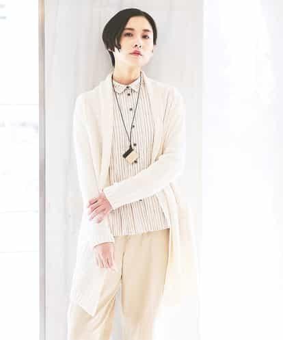 GIANNI LO GIUDICE(ジャンニ・ロ・ジュディチェ) 【Yamagata Knit】ケーブルロングニットカーディガン アイボリー 40