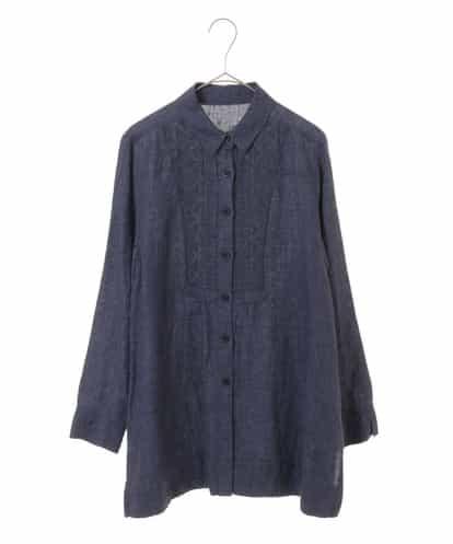 Maison de CINQ(メゾンドサンク) 【洗える】デザイン刺繍ブラウス ネイビー 36