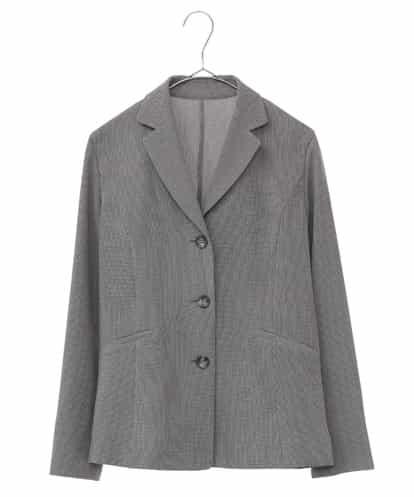 Maison de CINQ(メゾンドサンク) 【洗える・日本製】テーラードサマージャケット ブラック 36