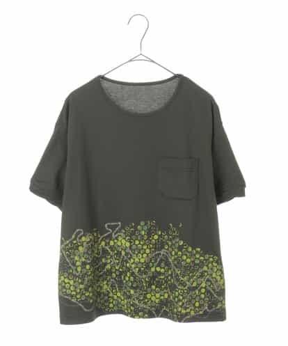 Maison de CINQ(メゾンドサンク) 【洗える・UV・消臭・接触冷感】デザインプリントカットソー カーキ 36
