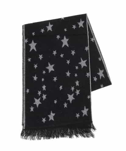 GIANNI LO GIUDICE(ジャンニ・ロ・ジュディチェ) 星柄ストール ブラック 40