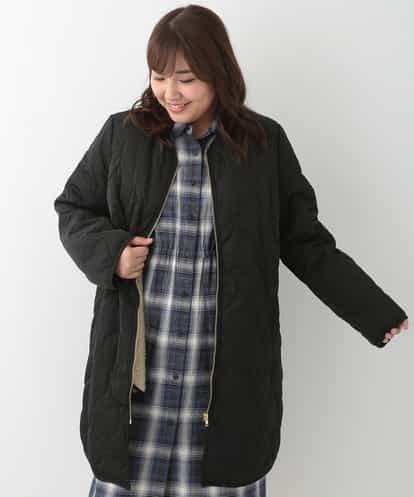 eur3(エウルキューブ) 【大きいサイズ】ライナー付きキルティングコート ブラック 15