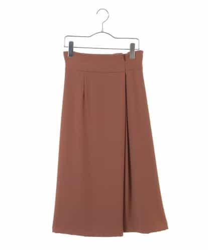 Maison de CINQ(メゾンドサンク) ラップタックタイトスカート キャメル 36