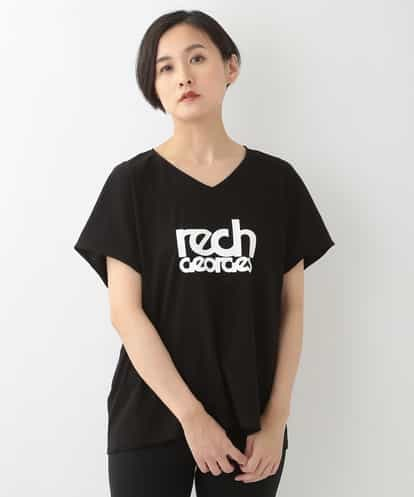 GEORGES RECH(ジョルジュレッシュ) 【洗濯機OK】ロゴVネックTシャツ ブラック 38