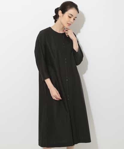 GEORGES RECH(ジョルジュレッシュ) 【洗える】ロングシャツドレス ブラック 38