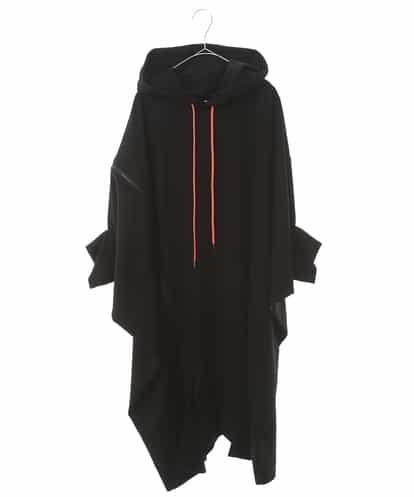 re:edtion project 165(リエディションプロジェクト165) 【日本製】ジップスウェット半袖ドレス ブラック 38