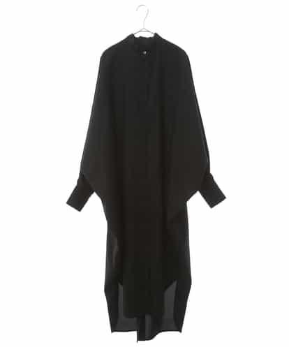re:edtion project 165(リエディションプロジェクト165) 【タイ付/日本製】ドルマンエアーシャツドレス ブラック 38