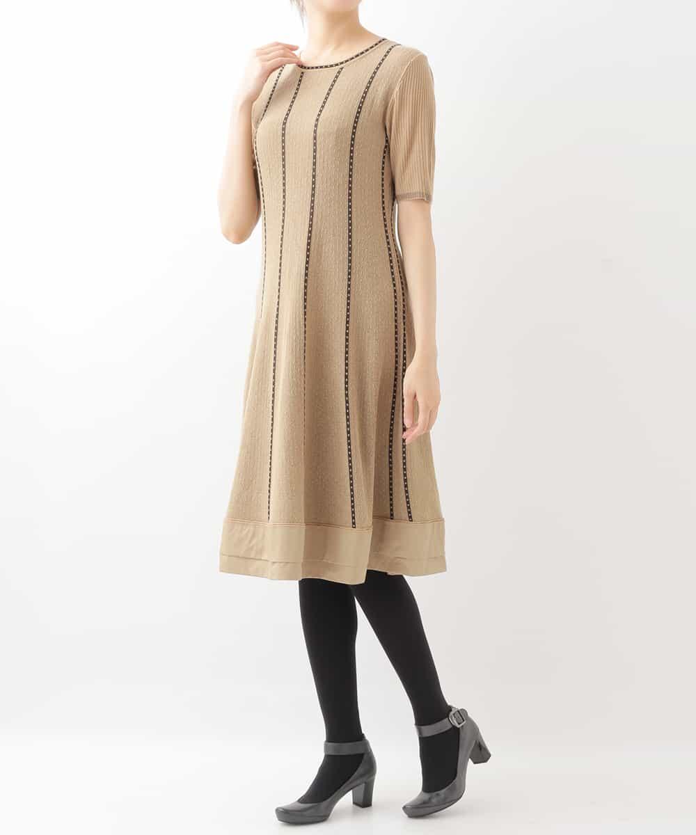 HIROKO BIS(ヒロコビス)デザインニットドレス