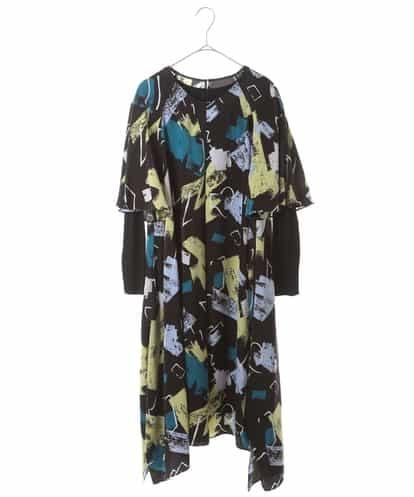 HIROKO BIS(ヒロコビス) 【洗濯機で洗える】デザインアートプリントドレス ブラック 11