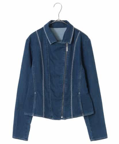 HIROKO BIS(ヒロコビス) 【洗濯機で洗える】デニム刺繍ジャケット ネイビー 9