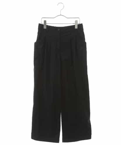 HIROKO BIS(ヒロコビス) 【洗濯機で洗える】コットンストレッチ タックパンツ ネイビー 9