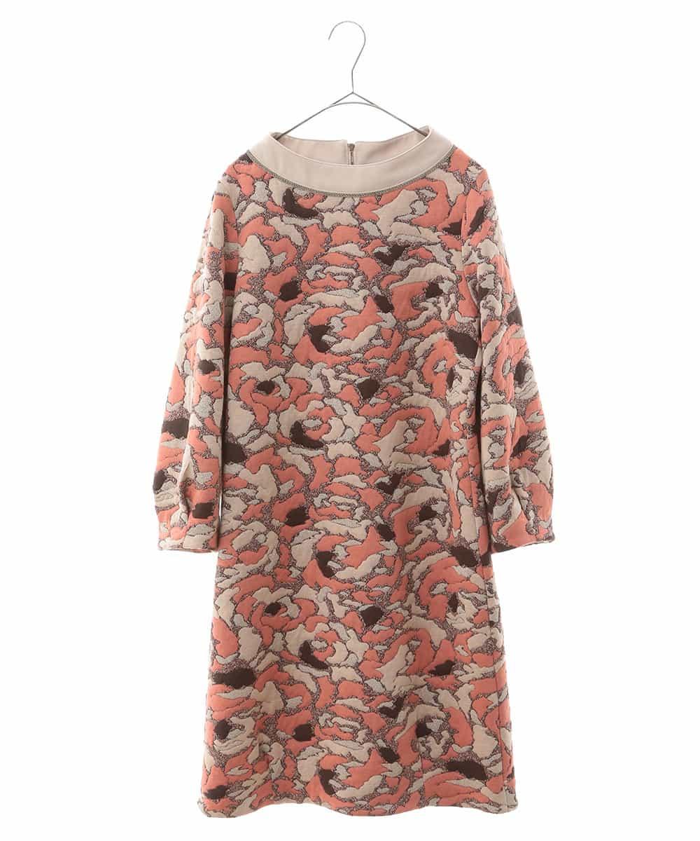 HIROKO BIS(ヒロコビス)【洗える】幾何フラワージャカードドレス