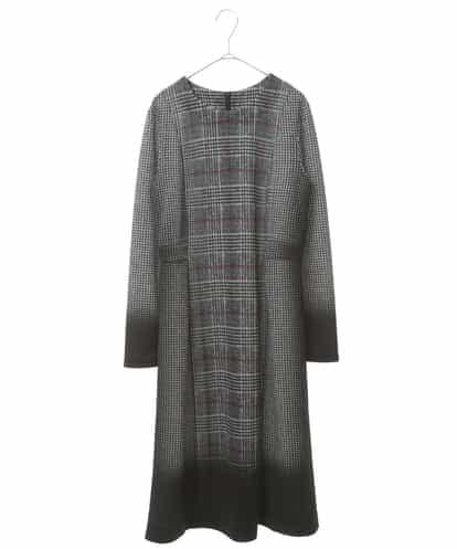 HIROKO BIS(ヒロコビス) 【洗える】グラデーションチェックドレス ブラック 11
