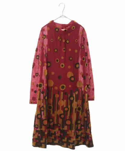 HIROKO BIS(ヒロコビス) 【洗える/日本製】パイルジャガードデザインドレス レッド 11