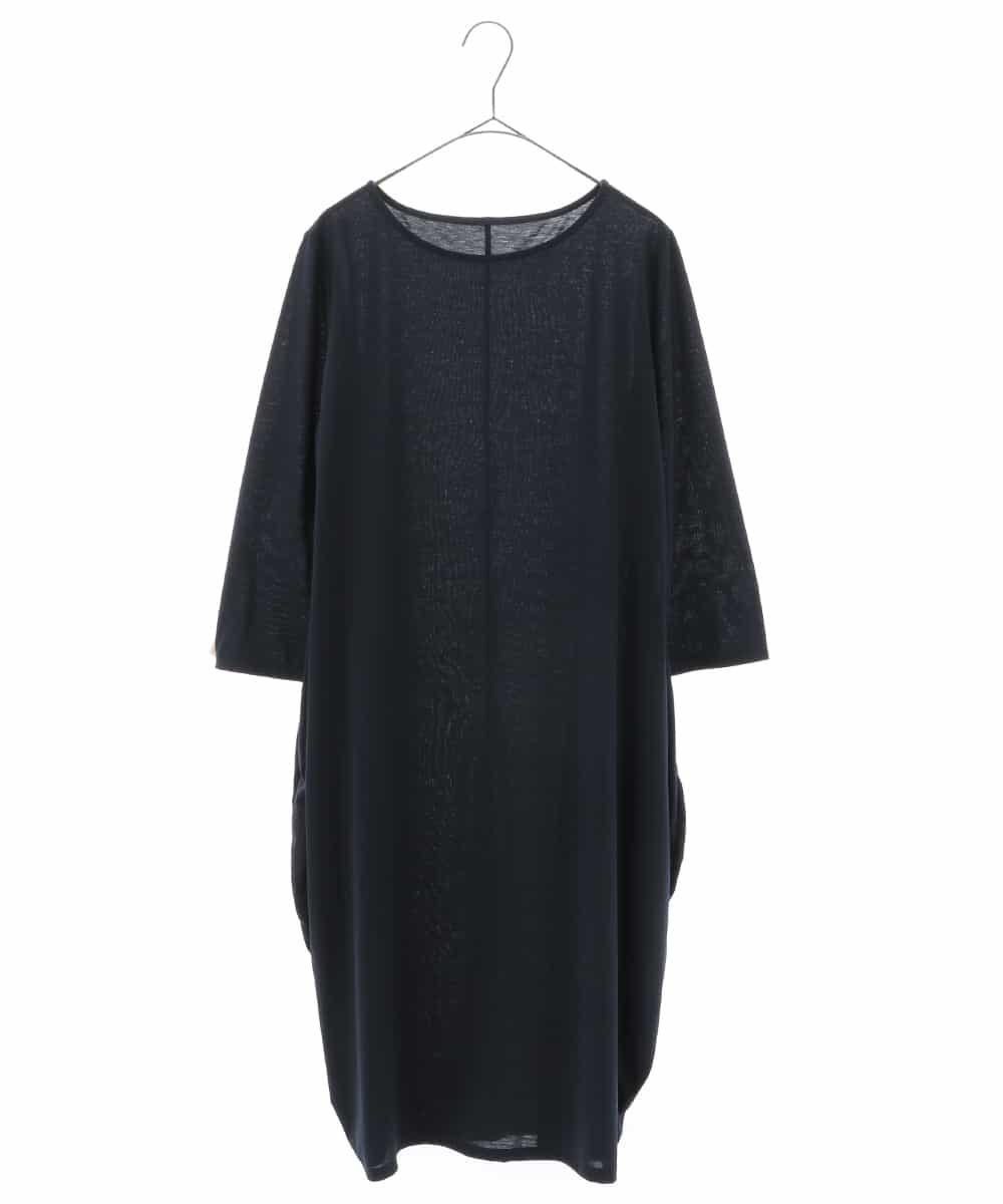 HIROKO BIS(ヒロコビス)【洗濯機で洗える/日本製】コクーンシルエットワンピース