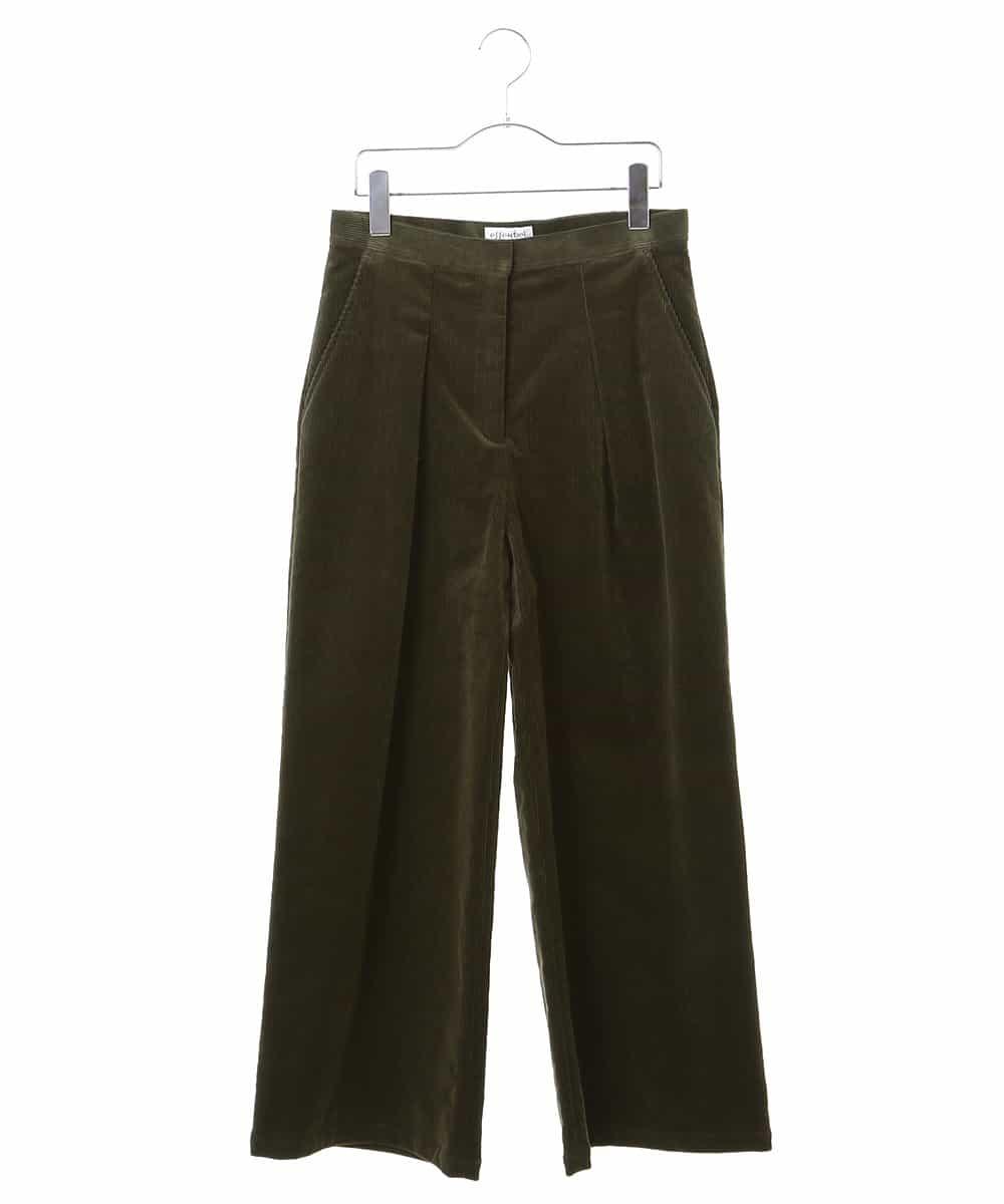 HIROKO BIS(ヒロコビス)【洗濯機で洗える】コーデュロイワイドパンツ