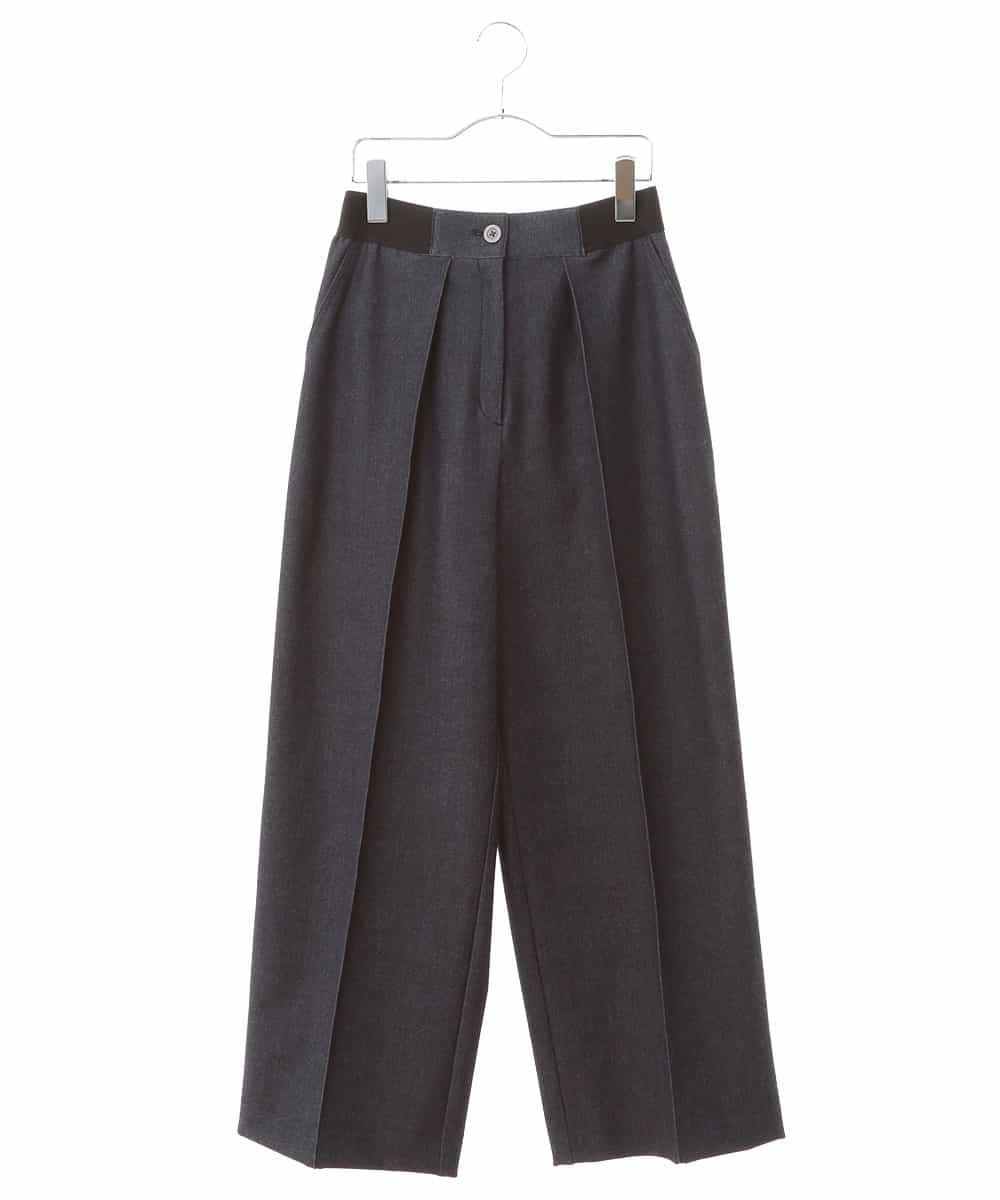 HIROKO BIS(ヒロコビス)【洗濯機で洗える】裏起毛デニムワイドパンツ