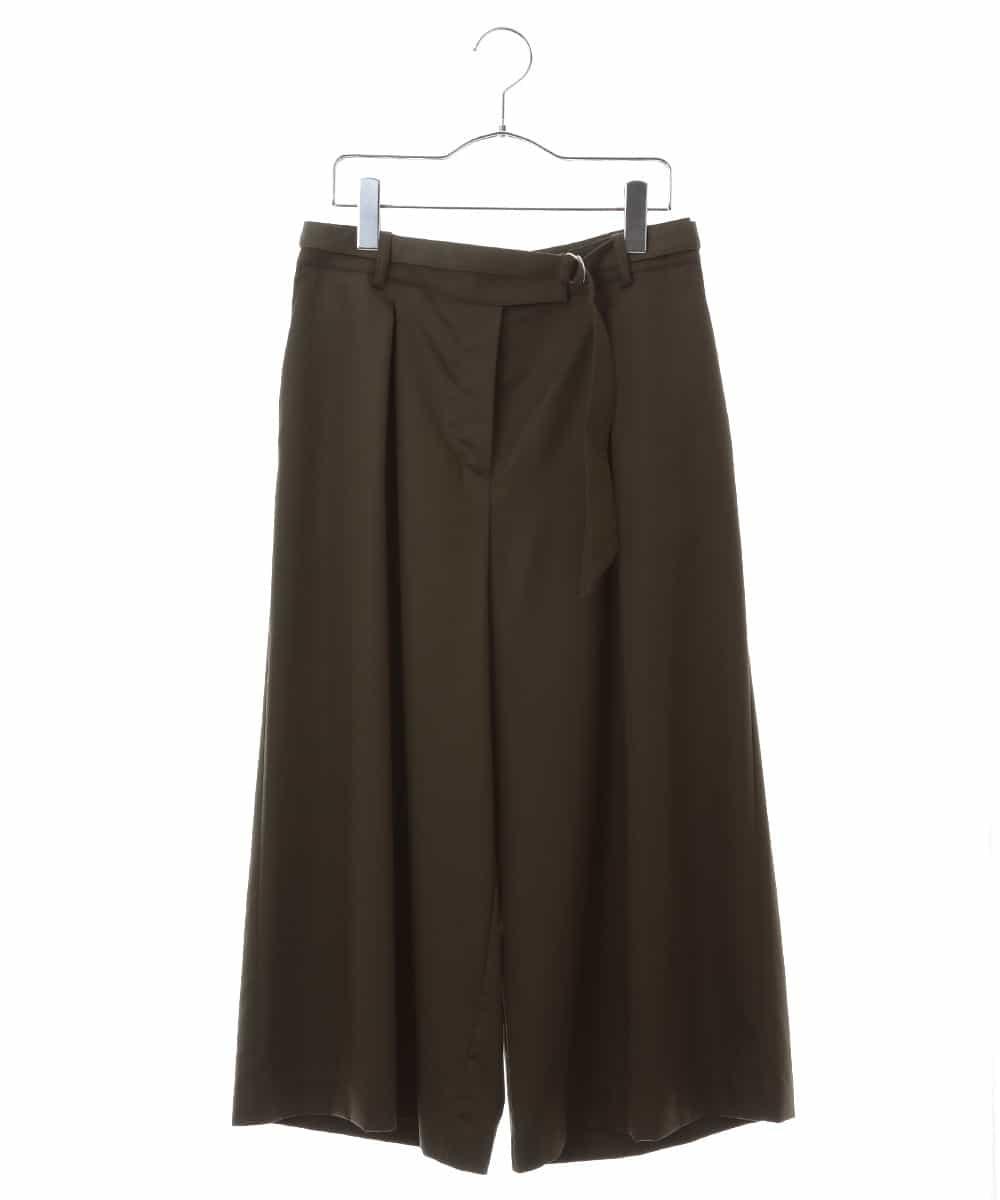 HIROKO BIS(ヒロコビス)【洗濯機で洗える】ベルト付きガウチョ