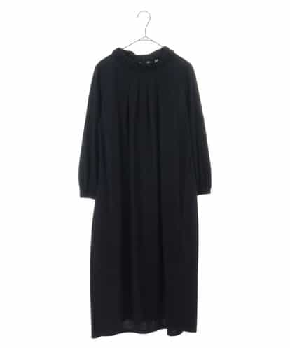 HIROKO BIS(ヒロコビス) 【洗濯機で洗える】プレーティング天竺ドレス ネイビー 11