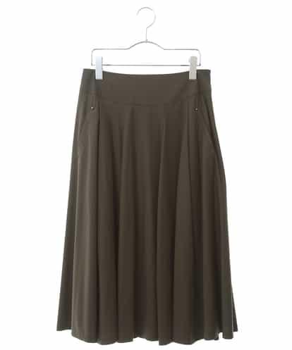 HIROKO BIS(ヒロコビス) 【洗濯機で洗える】トリコットフレアスカート カーキ 9