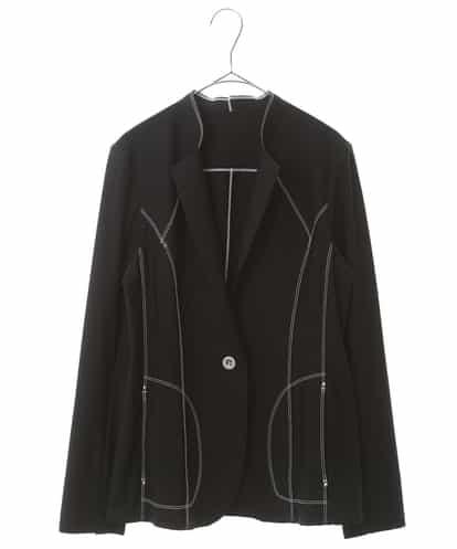 HIROKO BIS(ヒロコビス) 【洗濯機で洗える】トリコット デザインジャケット ブラック 9